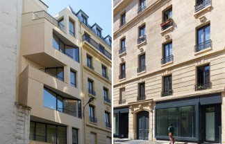 """The project of the rue Godefroy Cavaignac, in Paris, consisted in the rehabilitation of a degraded building into new social housing by h2o architectes."" 19th century building made modern by h2o architectes 19th century building made modern by h2o architectes 19th century building made modern by h2o architectes slide 324x208"