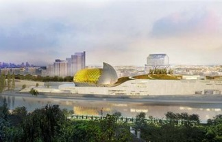 """Shigeru Ban has won an international design competition to design ""Cité Musicale,"" a new mixed-use cultural center slated for Seguin Island in Paris."" Shigeru Ban will design the 'Cite Musicale' in Paris Shigeru Ban will design the 'Cite Musicale' in Paris Paris Design Agenda Cite Musicale Paris slide 324x208"