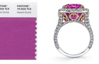 """Pantone's 2014 color trend was unveiled and the chosen one was Radiant Orchid"" 2014 color trend by Pantone 2014 color trend by Pantone pantone 4 324x208"