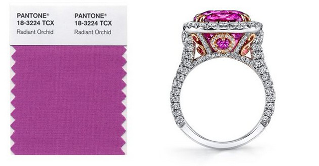"""Pantone's 2014 color trend was unveiled and the chosen one was Radiant Orchid"" 2014 color trend by Pantone 2014 color trend by Pantone pantone 4"