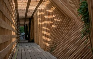 french studio French Studio Atelier Vecteur Completes Oscillating Timber Tunnel French Studio Atelier Vecteur Completes Oscillating Timber Tunnel 0 324x208