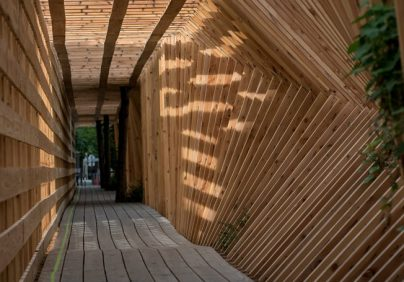 french studio French Studio Atelier Vecteur Completes Oscillating Timber Tunnel French Studio Atelier Vecteur Completes Oscillating Timber Tunnel 0 404x282