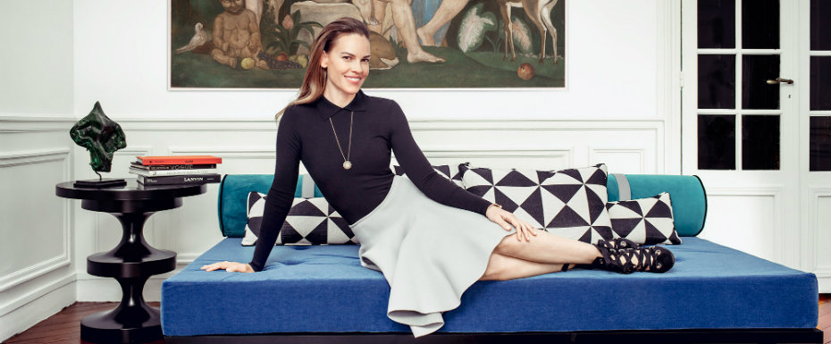 hilary swank See the New Paris Apartment of Awarded Actress Hilary Swank hillary swank 1