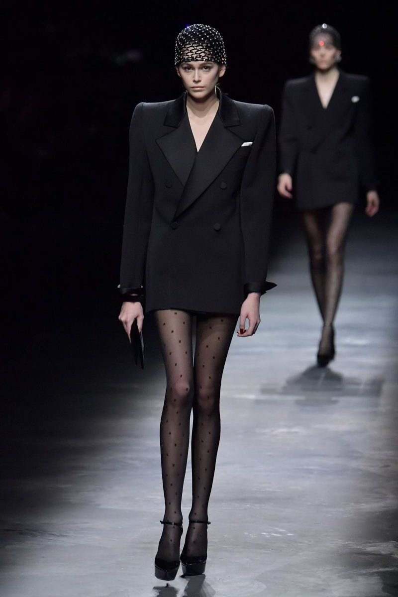 Explore The Top Designers And Their Trends At 2019 Paris Fashion Week 2019 paris fashion week Explore The Top Designers And Their Trends At 2019 Paris Fashion Week kaia gerber walks the runway at the saint laurent show during paris fashion week womenswear fall winter 2019 2020 in paris france 260219 5 e1551350378750