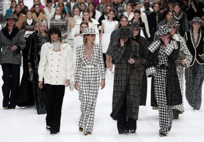 Chanel Presents Karl Lagerfeld's Last Designed Collection [object object] Chanel Presents Karl Lagerfeld's Last Designed Collection cara delevningne chanel finale 1551782590 404x282