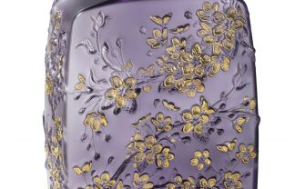 lalique Admire The Brand New Collections Of Lalique! 10708100 BD Fleurs de Cerisier vase purple LALIQUE SA 324x208
