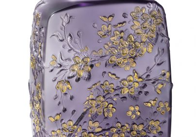 lalique Admire The Brand New Collections Of Lalique! 10708100 BD Fleurs de Cerisier vase purple LALIQUE SA 404x282