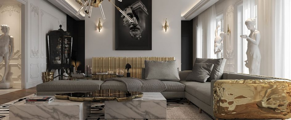 Interior Design Inspiration: Parisian Multi-Million Dollar Luxury Penthouse parisian multi-million dollar penthouse Interior Design Inspiration: Parisian Multi-Million Dollar Penthouse a multi million dollar parisian penthouse living room 2 boca do lobo 944x390