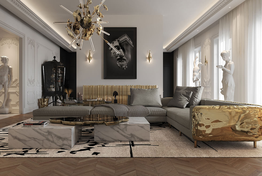 Interior Design Inspiration: Parisian Multi-Million Dollar Luxury Penthouse parisian multi-million dollar penthouse Interior Design Inspiration: Parisian Multi-Million Dollar Penthouse a multi million dollar parisian penthouse living room 2 boca do lobo